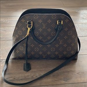 Louis Vuitton BNB in monogram. Black leather trim